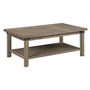 Rustic Weathered Gray Rectangular Cocktail Table