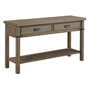 Rustic Weathered Gray Sofa Table