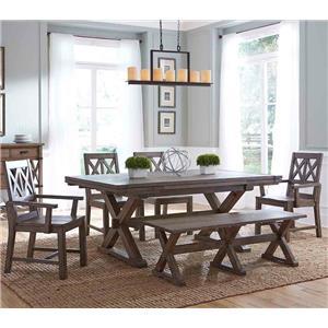 Kincaid Furniture Foundry 6 Pc Dining Set