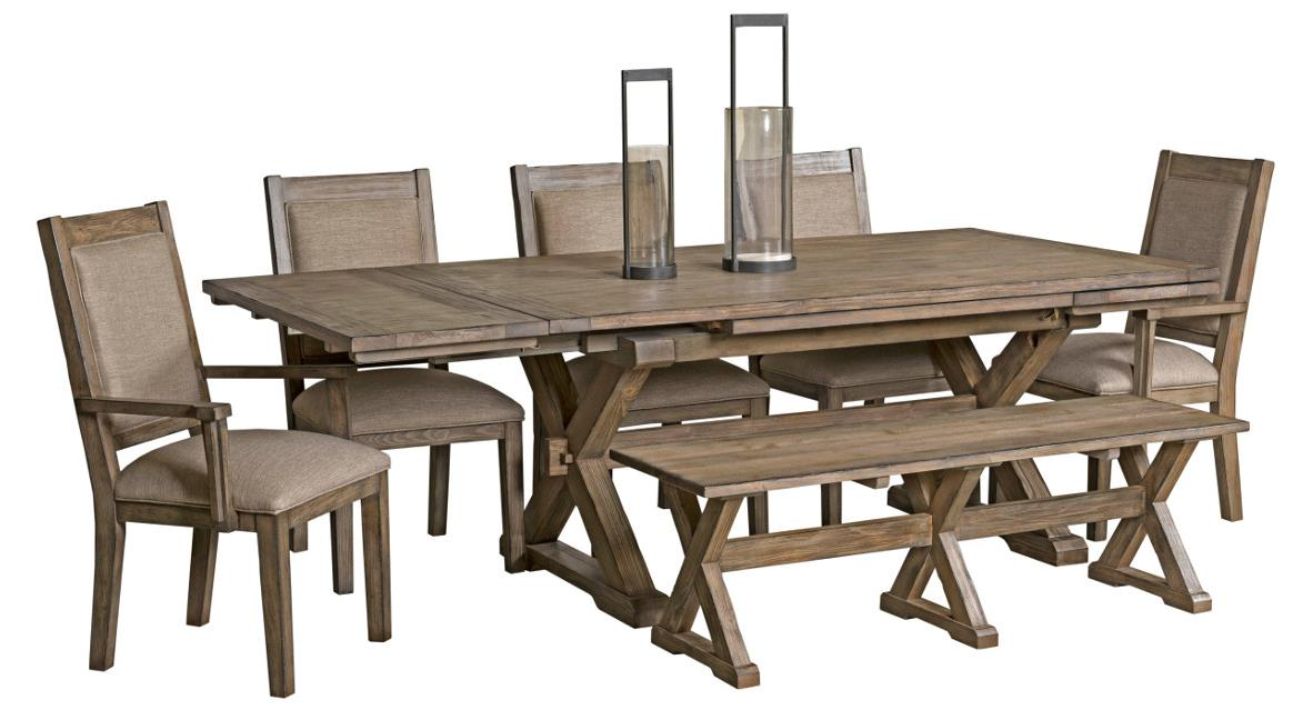 Foundry 7 Pc Dining Set with Bench at Stoney Creek Furniture