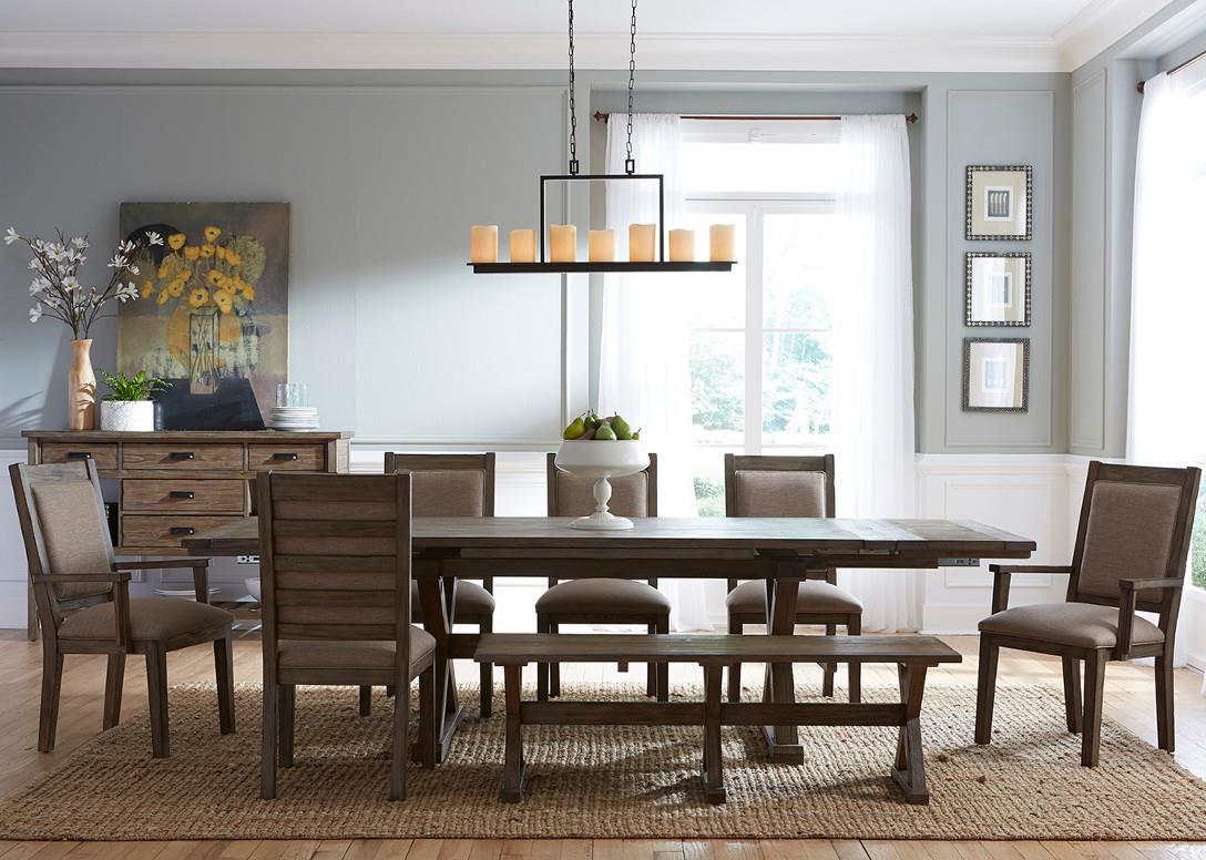 Foundry 8 Pc Dining Set with Bench at Stoney Creek Furniture