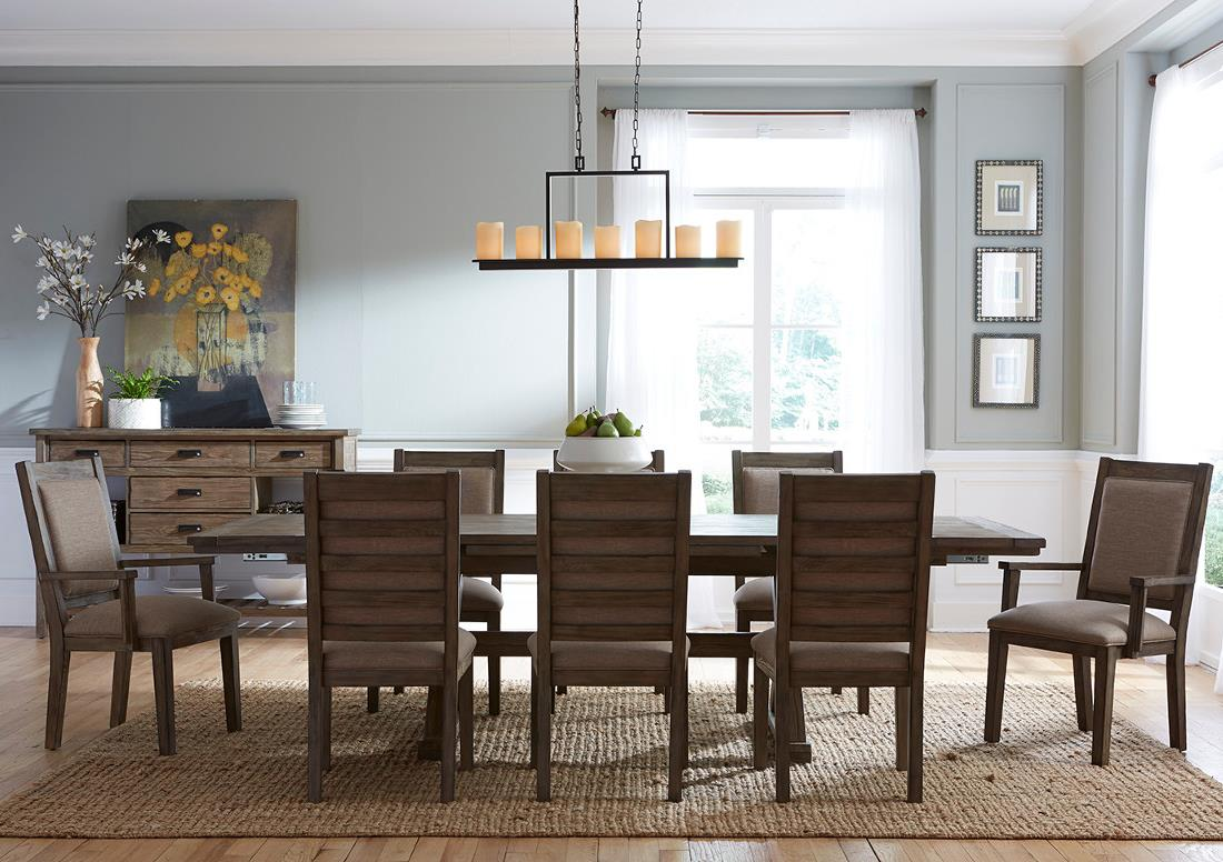 Foundry 9 Pc Dining Set by Kincaid Furniture at Northeast Factory Direct