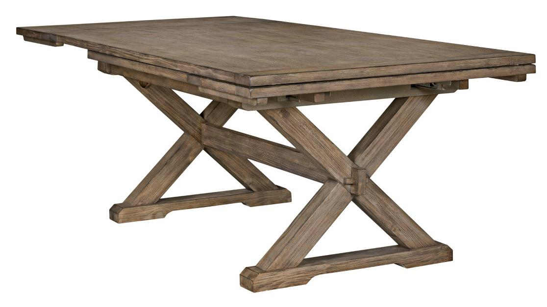 Foundry Saw Buck Dining Table by Kincaid Furniture at Northeast Factory Direct