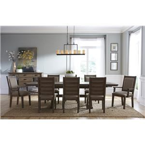 8 Piece Table & Chair Set with Leaves