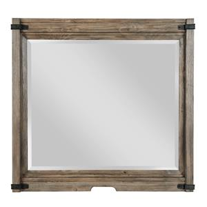 Rustic Bureau Mirror with Bracket Detail