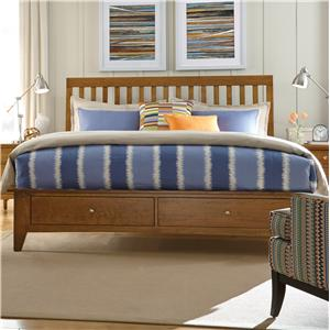 Kincaid Furniture Gatherings Queen Slat Bed with Storage Footboard