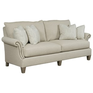 Transitional Large Sofa with Nail Head Trim