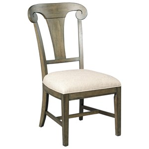 Fulton Splat Back Side Chair with Upholstered Seat