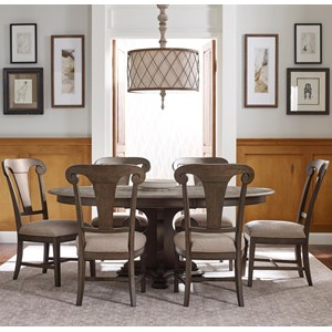 Seven Piece Dining Set with Grant Round Table and Fulton Side Chairs