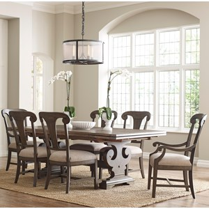 Seven Piece Dining Set with Crawford Refectory Table and Fulton Chairs