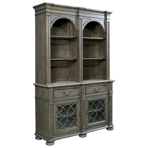 Harper China Cabinet with Touch Lighting and Seed Glass Doors