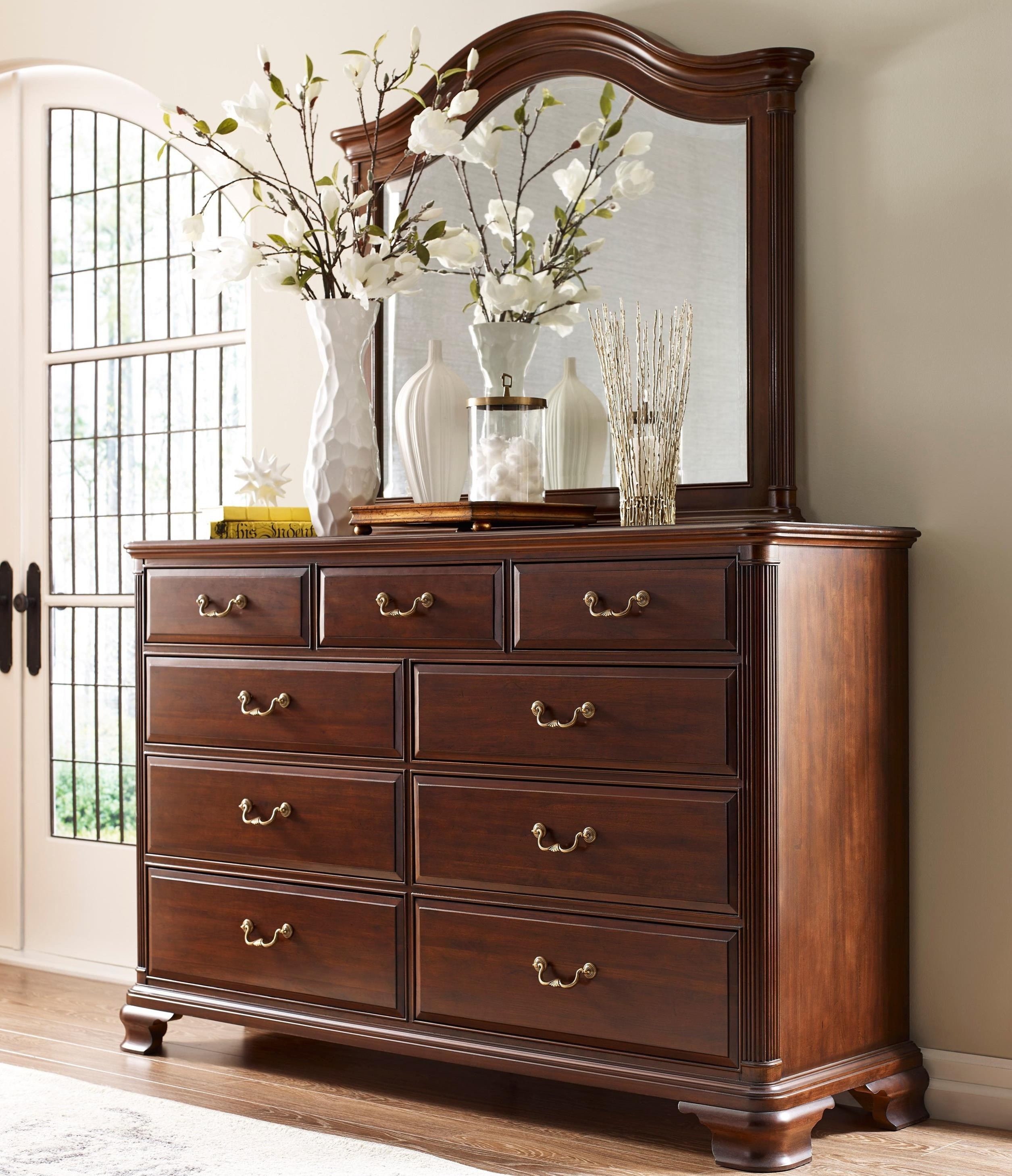 Hadleigh Dresser and Mirror Set by Kincaid Furniture at Johnny Janosik