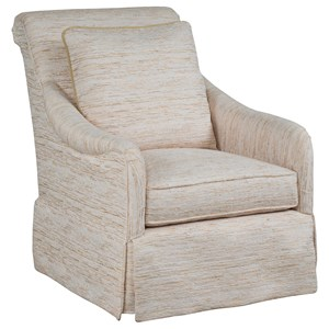 Casual Upholstered Chair with Skirt