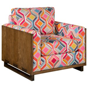 Woodwright Modern Craftsman Chair with Exposed Wood Arms