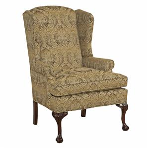 Wingback Accent Chair with Claw Feet