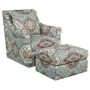 Tate Chair & Ottoman Set