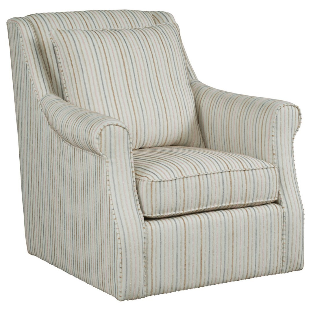 Accent Chairs Tate Swivel Glider Chair by Kincaid Furniture at Johnny Janosik
