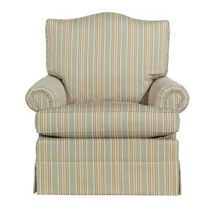 Rolled Arm Skirted Accent Chair