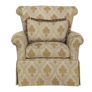Kincaid Furniture Accent Chairs Rolled Arm Chair