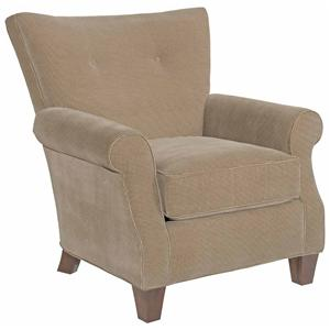 Geneva Transitional Accent Chair with Button Tufting