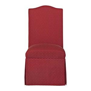 Armless Skirted Accent Chair