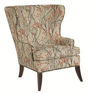 Denton Accent Chair with Wide Flared Back and Nailhead Trim