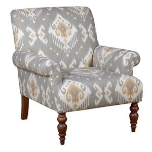 Malone Chair with Fan Pleated Arms and Turned Legs