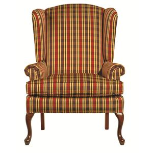 Traditional Camden Chair with Cabriole Legs and Tightly Rolled Arms