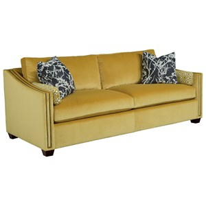 Linear Sofa with Nail Head Trim