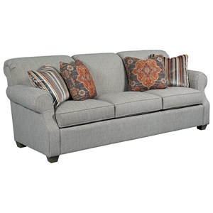 Grande Sofa with Rolled Back and Tapered Wood Feet