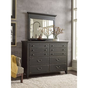 Baxley 8-Drawer Dresser and Mirror Set