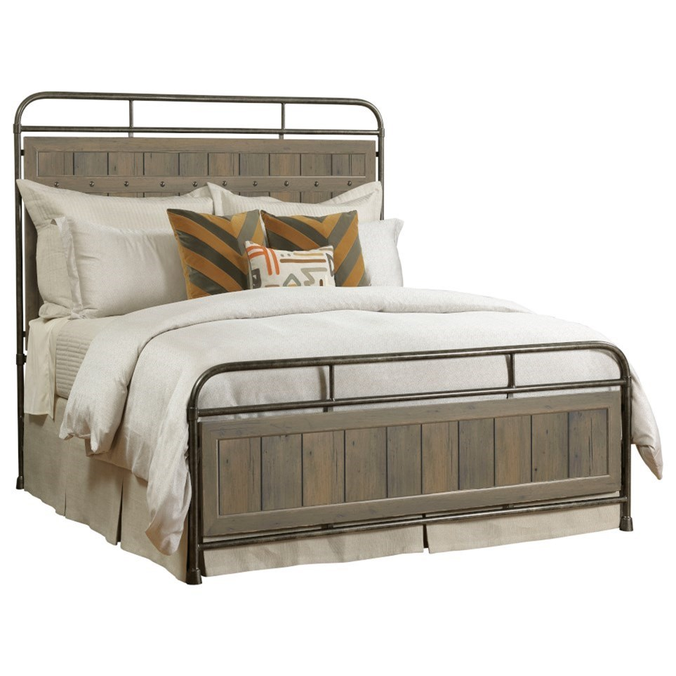 Mill House Folsom Queen Metal Bed by Kincaid Furniture at Northeast Factory Direct