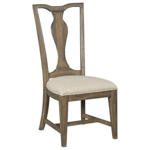 Copeland Solid Wood Side Chair with Upholstered Seat