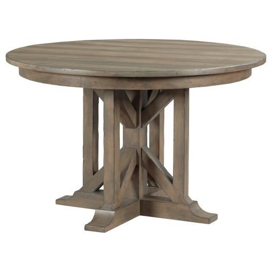 Mill House Manning Round Dining Table by Kincaid Furniture at Jacksonville Furniture Mart