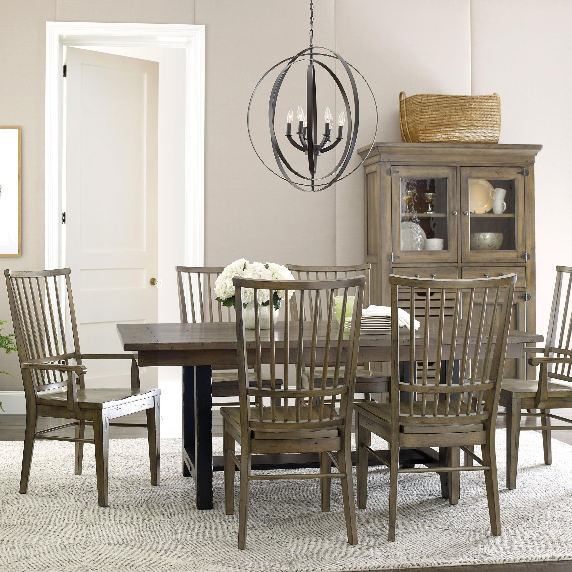 Mill House Dining Table Set with 6 Chairs by Kincaid Furniture at Northeast Factory Direct