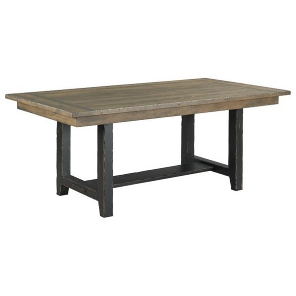 """Mill House 74"""" Webb Trestle Table by Kincaid Furniture at Jacksonville Furniture Mart"""