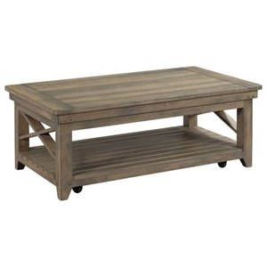 Soots Solid Wood Coffee Table with Casters