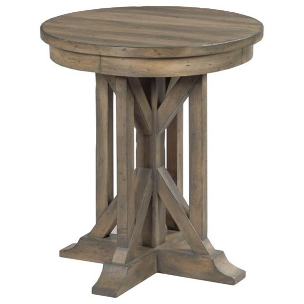 """Mill House 22"""" James Round End Table by Kincaid Furniture at Northeast Factory Direct"""