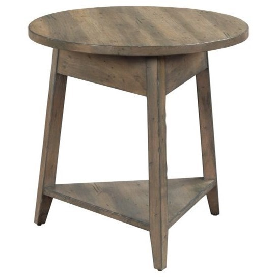 """Mill House 24"""" Bowler End Table by Kincaid Furniture at Johnny Janosik"""