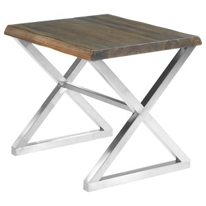 Kinley End Table with Metal Base