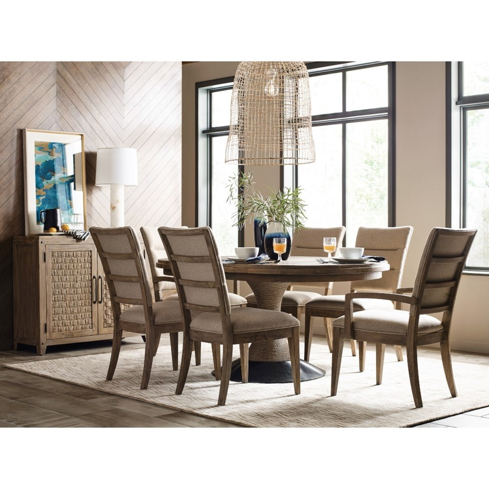 Modern Forge Formal Dining Room Group by Kincaid Furniture at Godby Home Furnishings