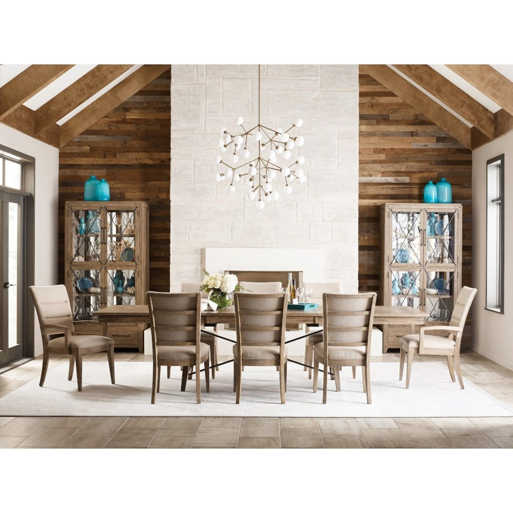 Modern Forge Formal Dining Room Group by Kincaid Furniture at Johnny Janosik