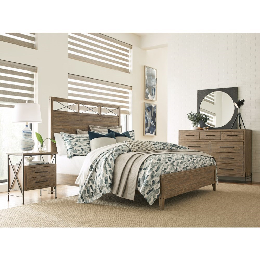 Modern Forge Queen Bedroom Group by Kincaid Furniture at Johnny Janosik