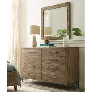 Amity Dresser and Woven Mirror Set