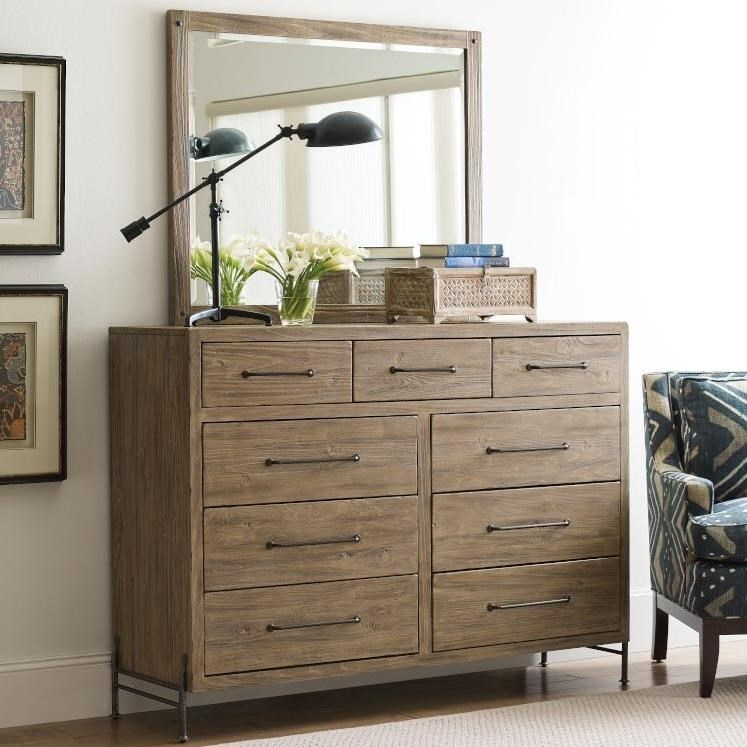 Modern Forge Dresser and Mirror Set by Kincaid Furniture at Johnny Janosik