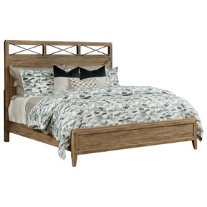 Jackson Queen Solid Wood Bed with Metal Detail