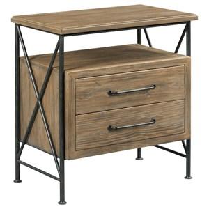 Crockett 2-Drawer Solid Wood Nightstand with Light