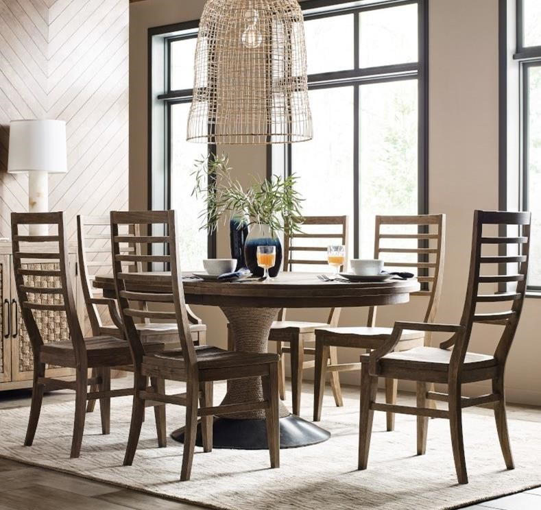 Modern Forge 7-Piece Dining Set by Kincaid Furniture at Turk Furniture