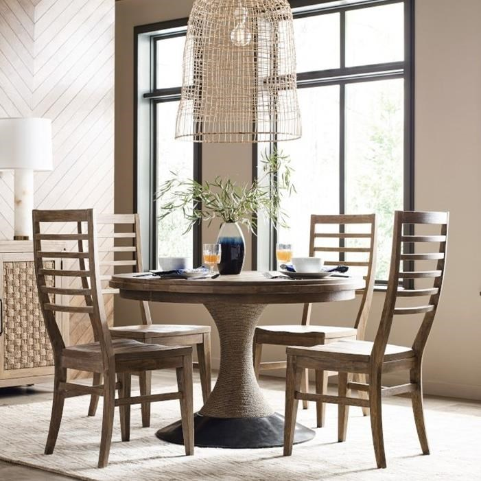 Modern Forge 5-Piece Dining Set by Kincaid Furniture at Northeast Factory Direct