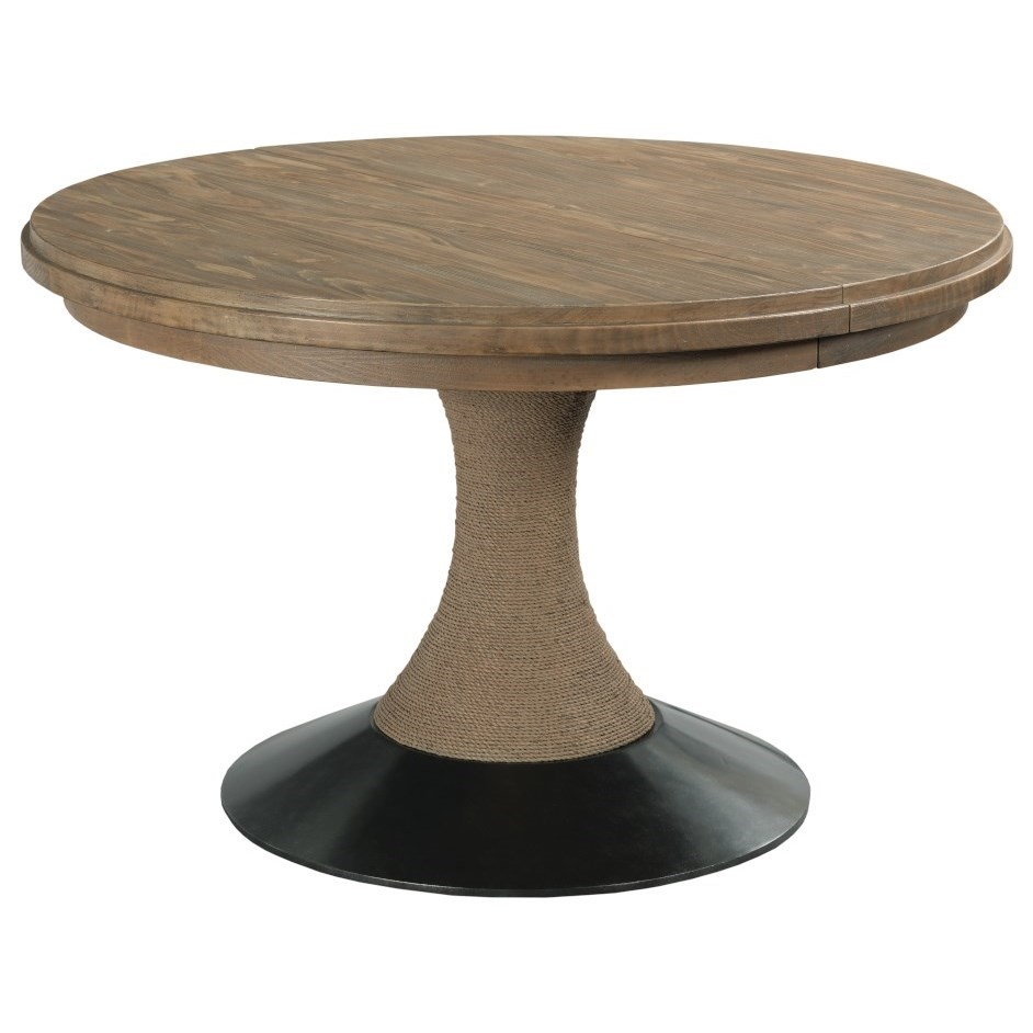 Modern Forge Lindale Round Dining Table by Kincaid Furniture at Northeast Factory Direct